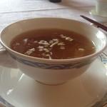 23574835 - プレミアムランチコース   干し貝柱とフカヒレの醤油風味スープ