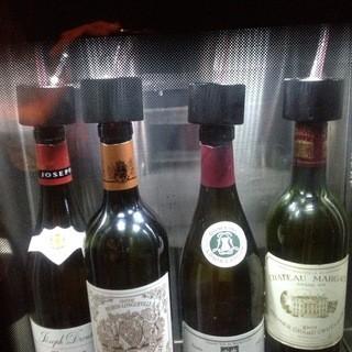 窒素サーバー導入により、高級ワインのグラス提供も可能!
