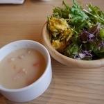 健康美食 豆の花 - シチューとサラダです