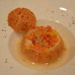 ステーキ&シーフード ボストン - 広島牡蠣入りチャウダー ボストンスタイル