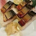 23580529 - 焼き鯖棒寿司。