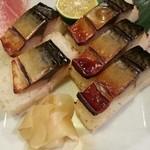 23580533 - 焼き鯖棒寿司。