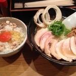 らーめん専門 和海 - 塩チャーシューメン(850円)+親玉子かけごはん(300円)