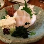 くいしん坊 魚国 - 湯葉とホタテのお刺身