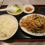 安泰楼 - 日替わりランチ(豚肉ともやしの炒め)