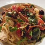 23586152 - 【パスタ】                       自家製ツナとアンチョビ ドライトマトのスパゲティーニ からすみがけ