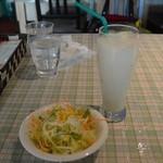 タージ - サラダとラッシー