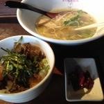 龍旗信 大阪堺本店 - チャーシュー丼(400円)+食べかけラーメン