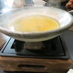 みや - 26年1月 氷見鰤シャブの鍋 鰤の骨出汁