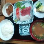鮒忠 - 刺身定食(1550円)
