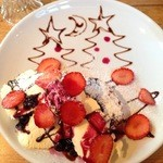 23598952 - 苺とベリーのフレンチトースト
