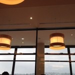 レストラン そら - 曲げわっぱの照明