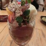 バル パサポルテ - チョコパフェ・・・ワタシの注文です(^◇^;)