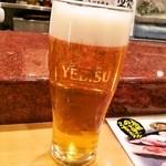 金沢まいもん寿司 - 【ちょい呑みセット】生ビールはヱビス