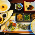 花水庵 - 朝食の精進料理