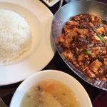 23608582 - ランチ:重慶式麻婆豆腐セット1300円