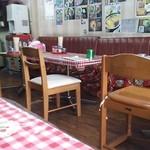 竹村食堂 - 決してきれいとは言えないがチェックのクロスがかわいい