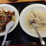 風味屋 - 回鍋飯480円&水餃子350円