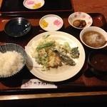 いちごや - かき揚げ定食  1100円
