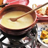 スイスシャレー - ★チーズフォンデュはスイスのグリエール、エメンタールを使用しています。★