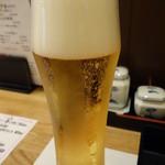 旬菜 一笑 - 生ビール