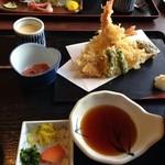 ぱぁくえりあ やまもと - 天ぷら定食  2100円