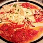 ABC 肉とワインのおいしい店 - イカの網焼き、トマトソース添え!