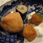 23626781 - 前菜(3800円コース) 蕎麦すし 蕎麦屋さんのコロッケ