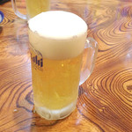 寿海 - 生ビール\400。ジョッキが大並で、超お徳です^^。毎回、