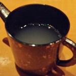 手打ち蕎麦 安田 - 蕎麦湯ですw ピンボケスミマセヌ(^^;;