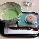 23630510 - 和菓子(ういろう 福梅)と御抹茶