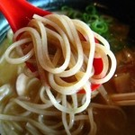 麺屋 なかがわ - 鶏白湯拉麺、全粒粉と北海道産の小麦をブレンドした特製麺