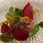 レザン ドール - マリネしたブリと野菜の数々。