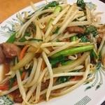 日高屋 - レバニラ。スタミナつけたい、野菜食べたい時に頂きます。