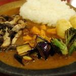 ダッチオーブン - 野菜のルーカリー(¥1,000) 2013.08