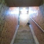 シギグラカフェ - 店への階段