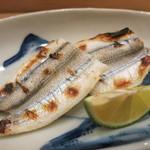 治鮨 - 細魚焼き 酢橘