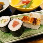 末廣 - 寿司(穴子箱、鯛箱、鉄火、穴きゅう)
