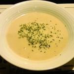 レストラン亀遊亭 - マッシュルームのスープ