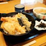 末廣 - 天丼セット840円