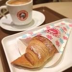 サンマルクカフェ - ミルキーホワイトチョコクロとブラック