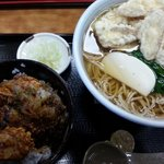 茗荷庵 - ごぼう天そば&野菜天丼(小)!(2014,1/13)