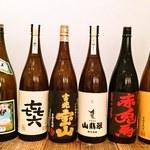 博多あごだしもつ鍋 土の上の花 - 蔵元さんが作るこだわりのお酒をご用意しております。