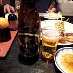 夢市門 - 瓶ビールももらいました