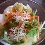 2366505 - レタス、水菜、ニンジン、アルファルファのサラダ