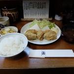 丸五 - メニューには無いカキフライ定食1600円