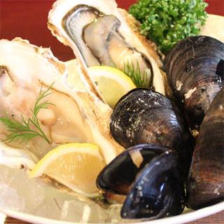 新鮮な魚貝をお楽しみいただけます。