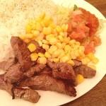 肉とワイン Bistro 2983 - ランチ。タコライス。牛肉が美味しい!
