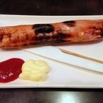 居酒家あきば - 魚肉ソーセージの一本ステーキ焼185円(1/16追加)