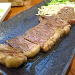 鉄板おおかわ - サーロインステーキ180g(国産)1200円